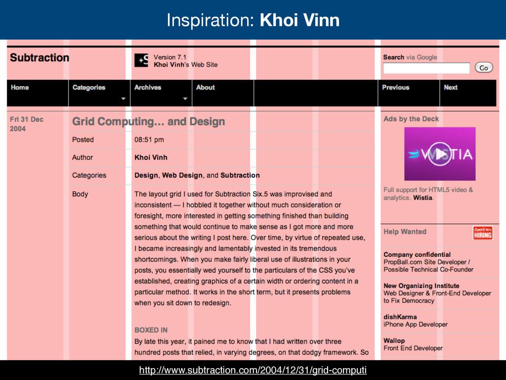 Inspiration: Khoi Vinn http://www.subtraction.c...