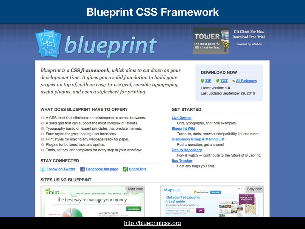 Blueprint CSS Framework http://blueprintcss.org