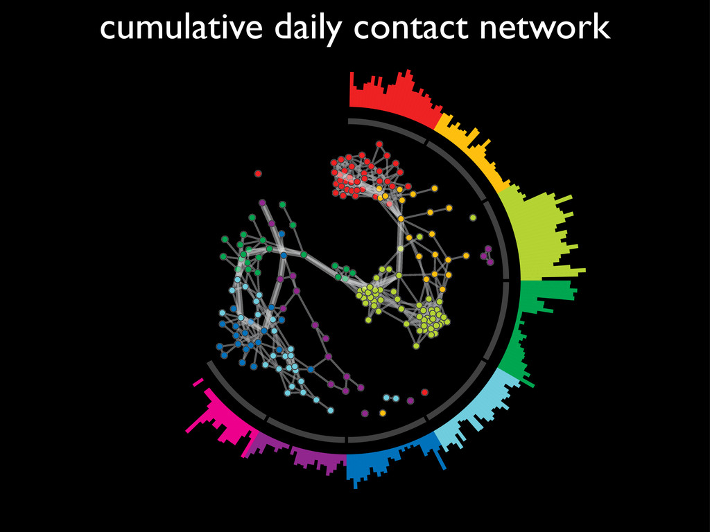cumulative daily contact network