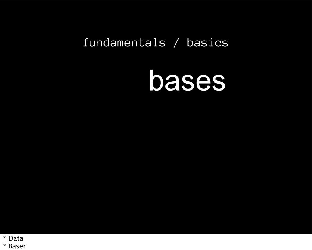 fundamentals / basics CBTFT * Data * Baser