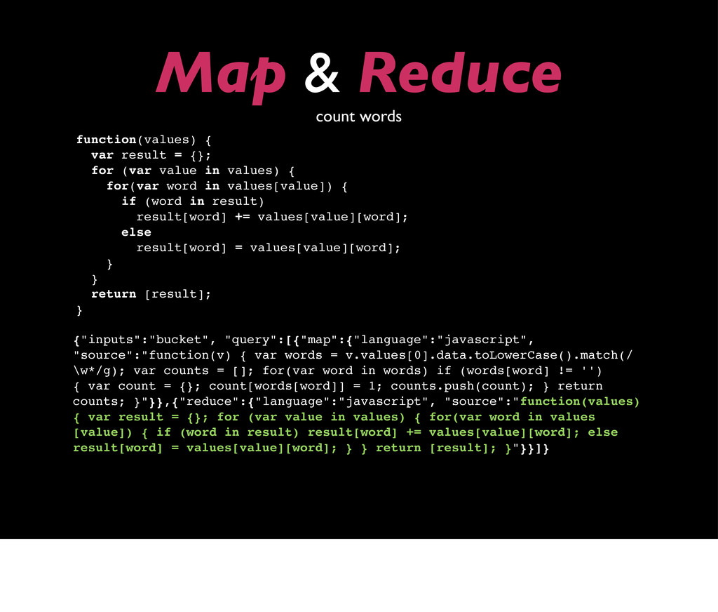 "Map & Reduce count words {""inputs"":""bucket"", ""q..."