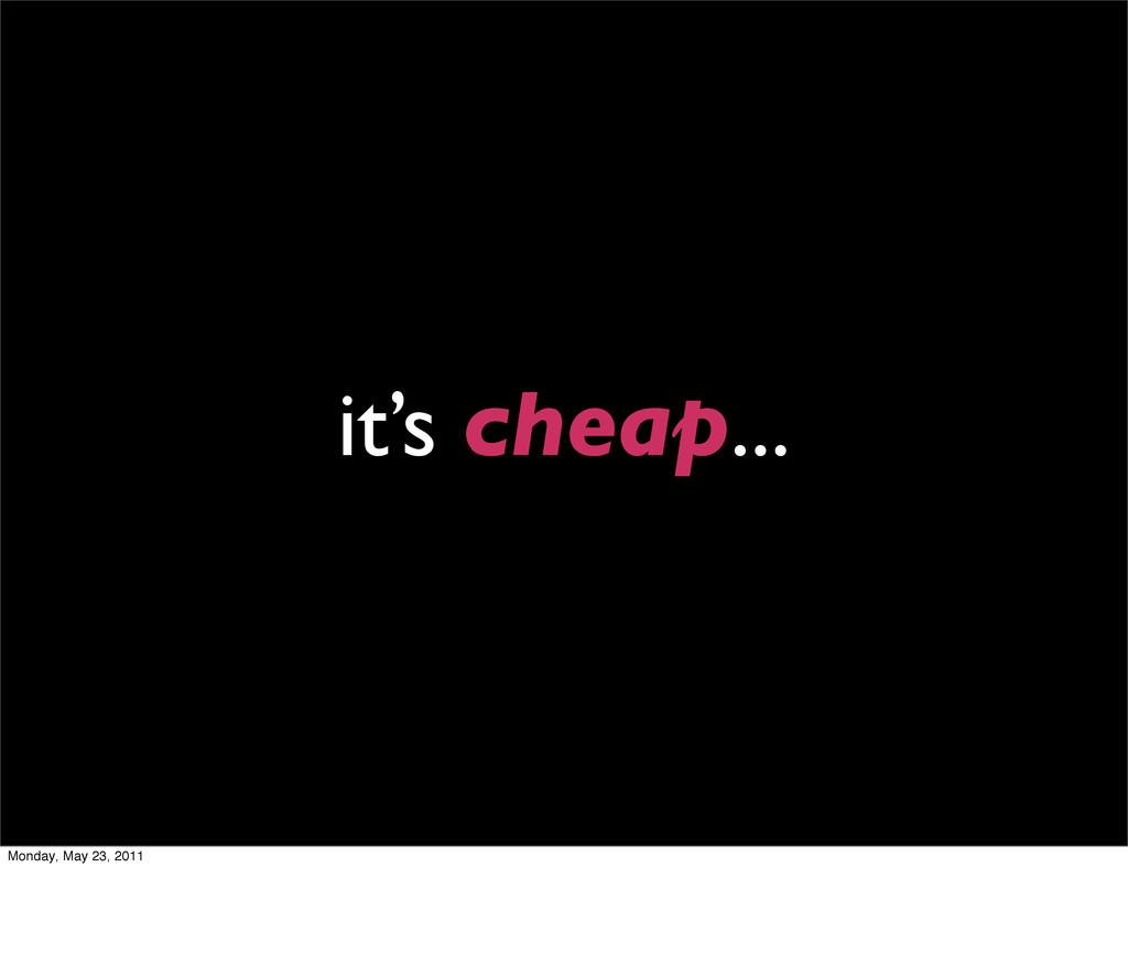it's cheap... Monday, May 23, 2011