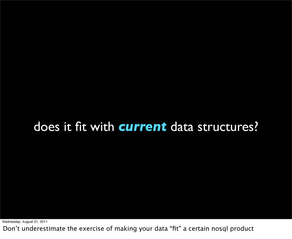 does it fit with current data structures? Wednes...