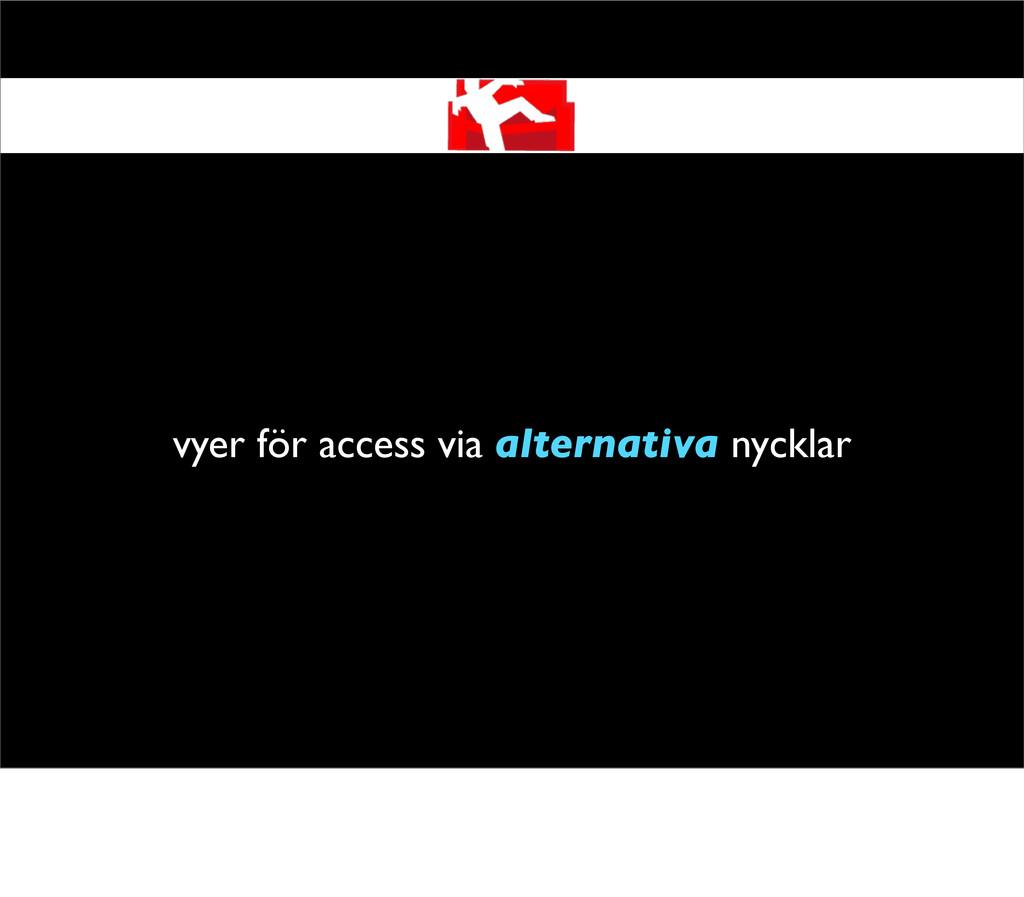 vyer för access via alternativa nycklar