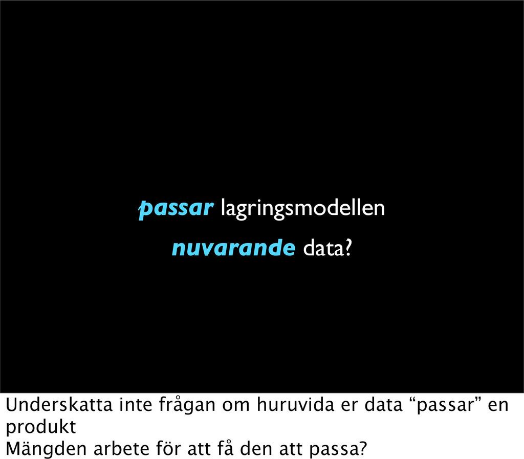 passar lagringsmodellen nuvarande data? Undersk...