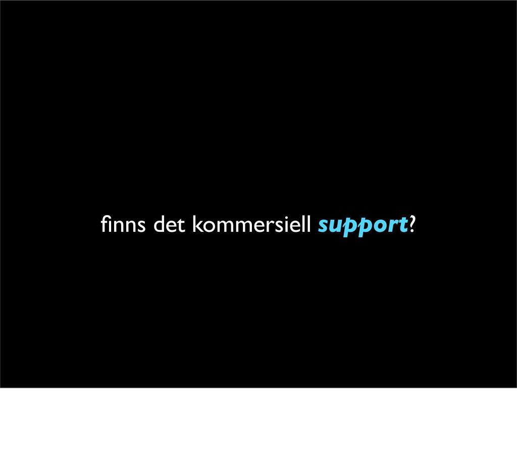 finns det kommersiell support?