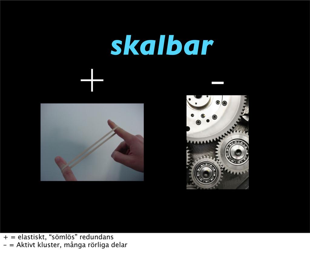 "skalbar   + = elastiskt, ""sömlös"" redundans -..."