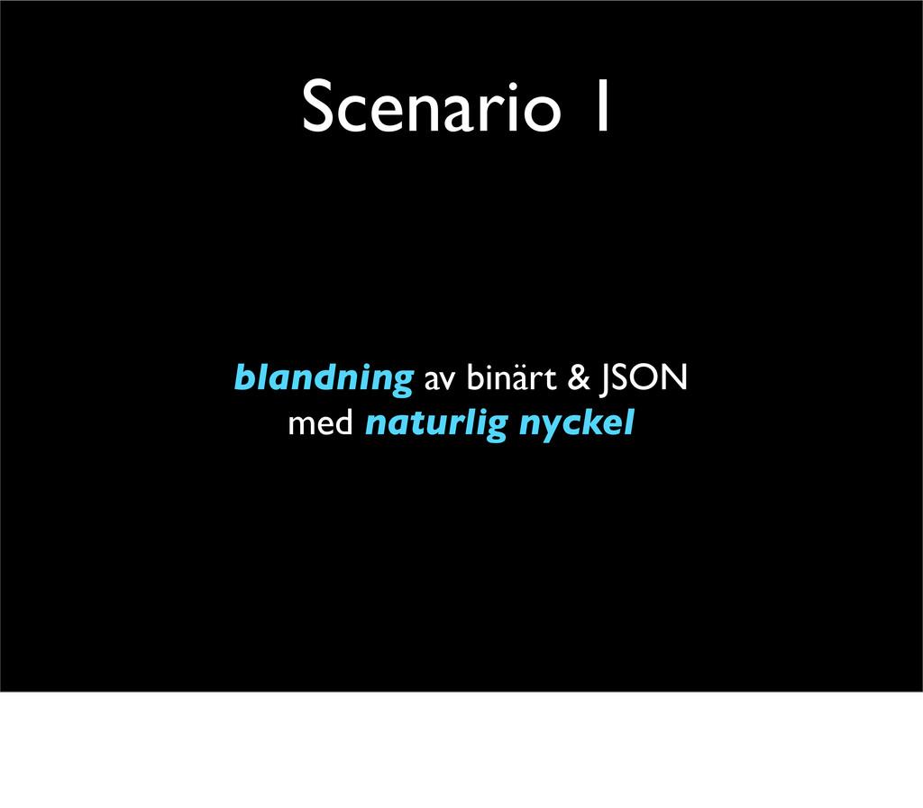 Scenario 1 blandning av binärt & JSON med natur...
