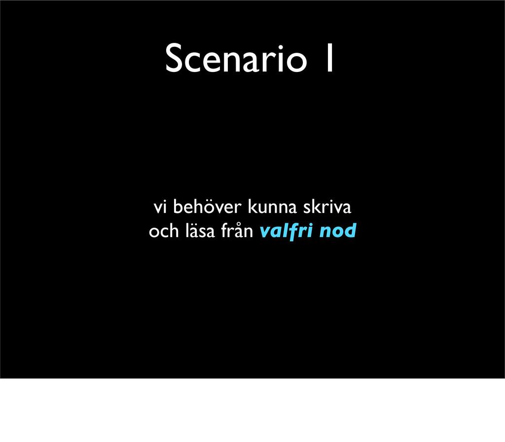 Scenario 1 vi behöver kunna skriva och läsa frå...
