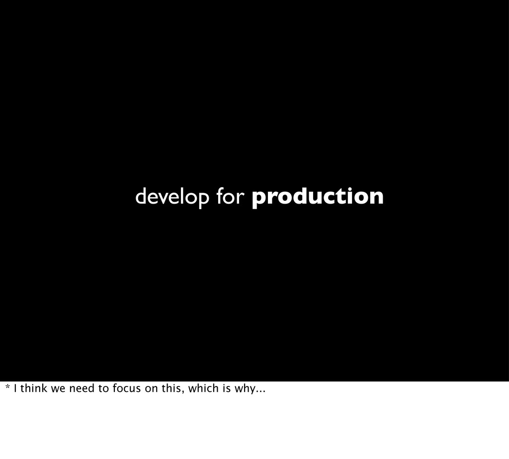 develop for production * I think we need to foc...