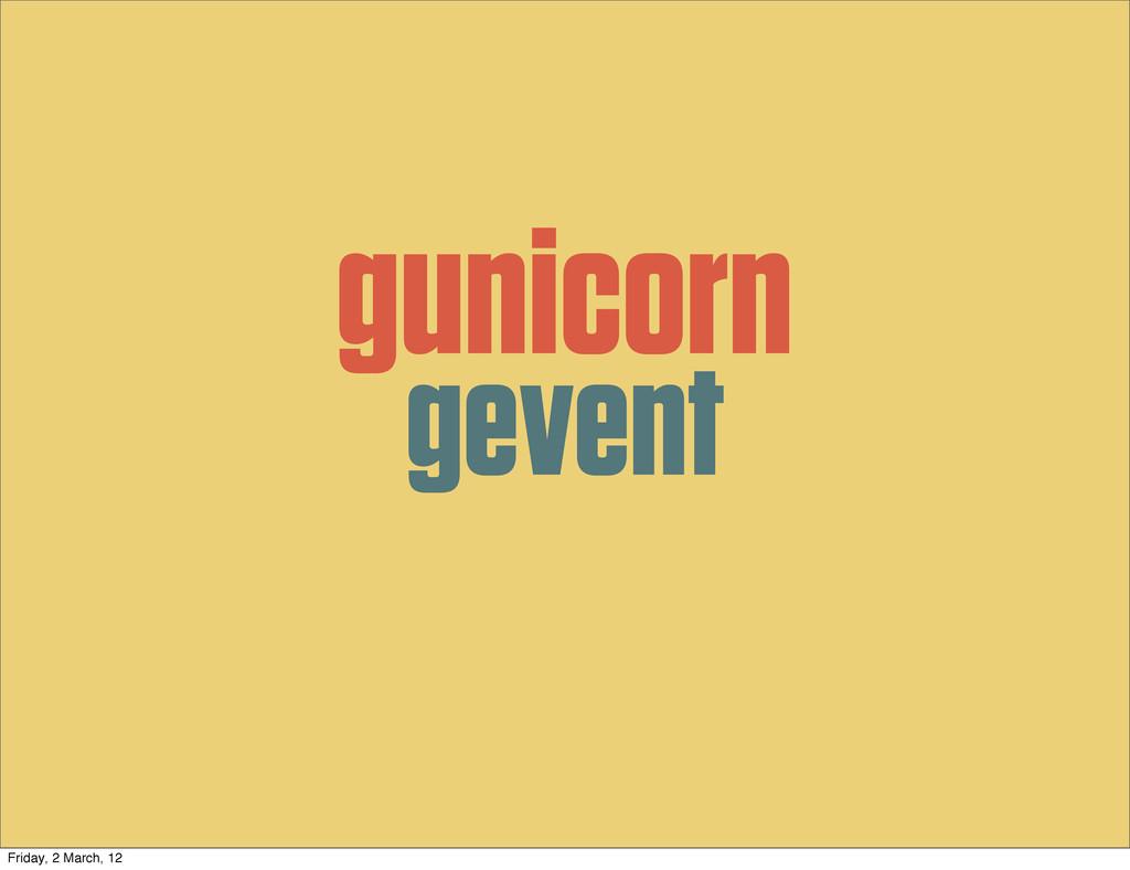 gunicorn gevent Friday, 2 March, 12