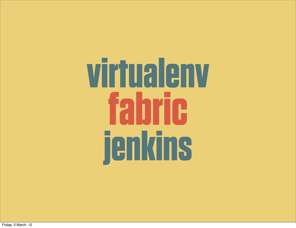 fabric virtualenv jenkins Friday, 2 March, 12