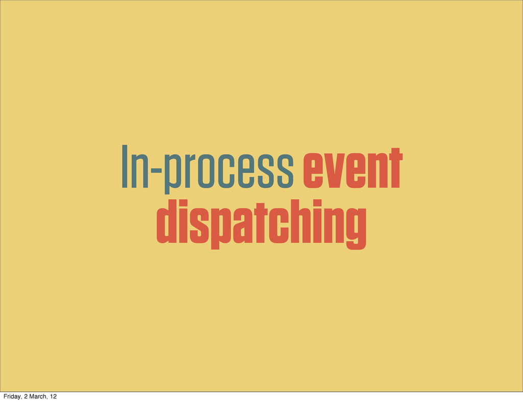 In-process event dispatching Friday, 2 March, 12