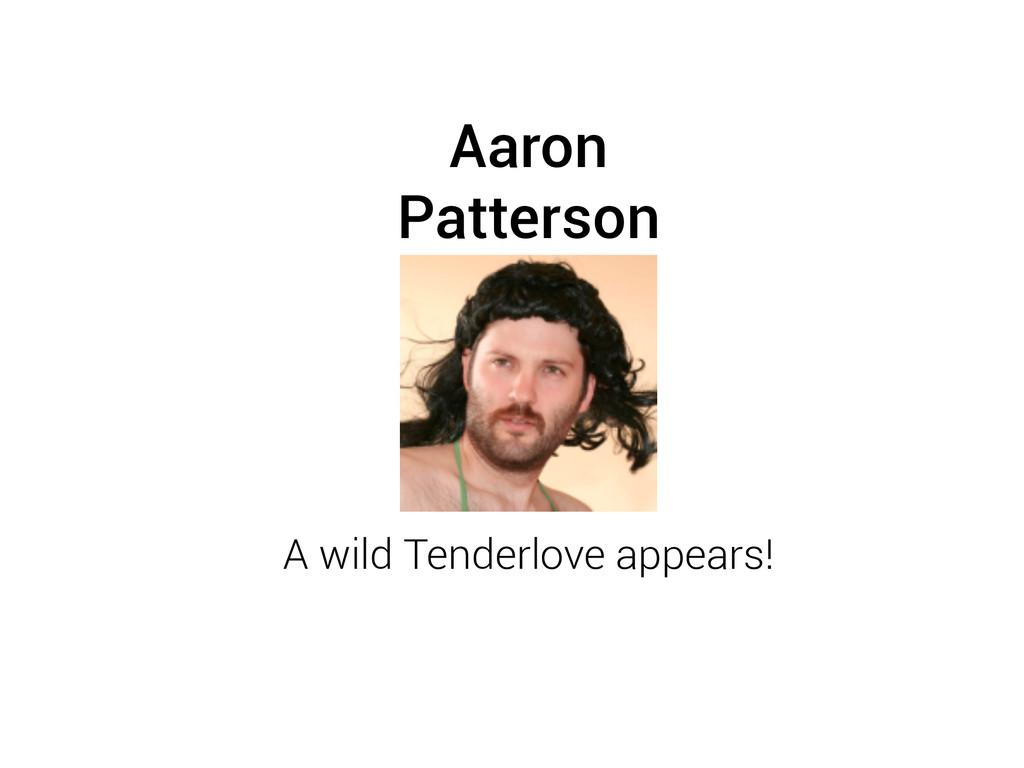 Aaron Patterson A wild Tenderlove appears!