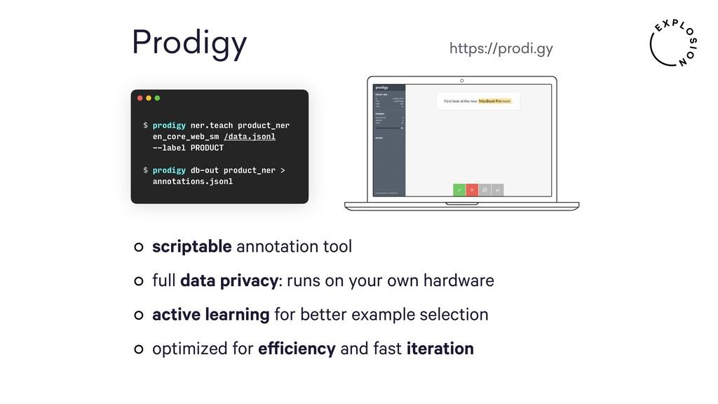 Prodigy https://prodi.gy scriptable annotation ...