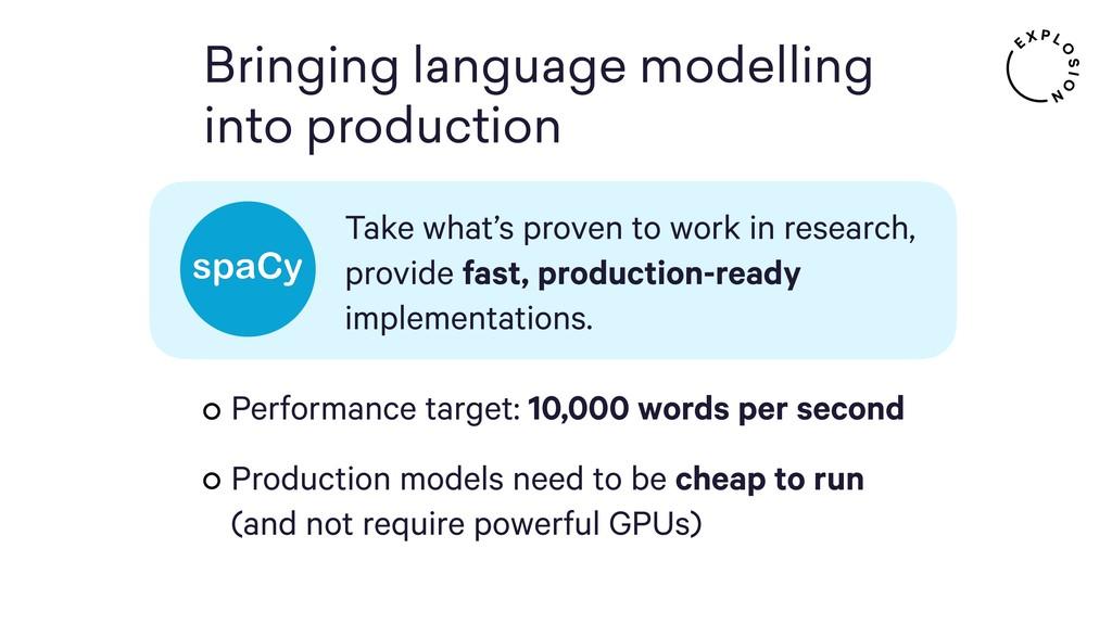 Bringing language modelling into production Tak...