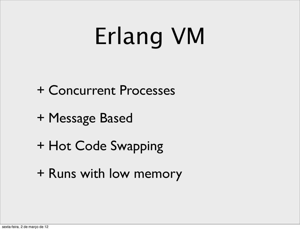 Erlang VM + Concurrent Processes + Message Base...