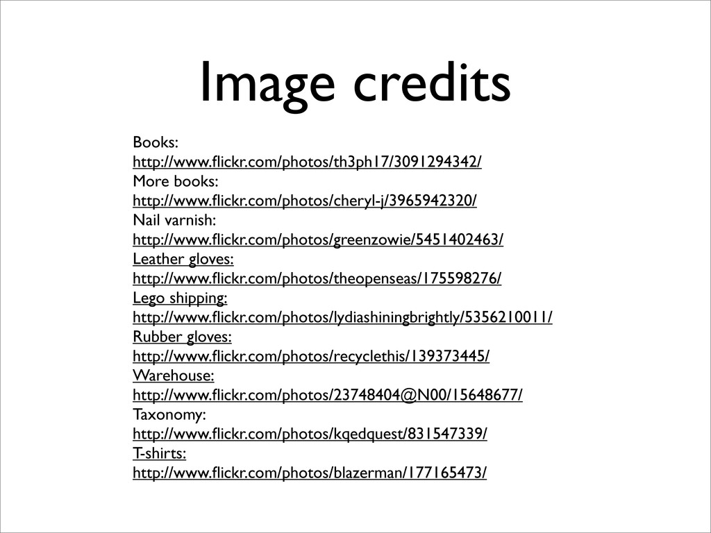 Image credits Books: http://www.flickr.com/photo...