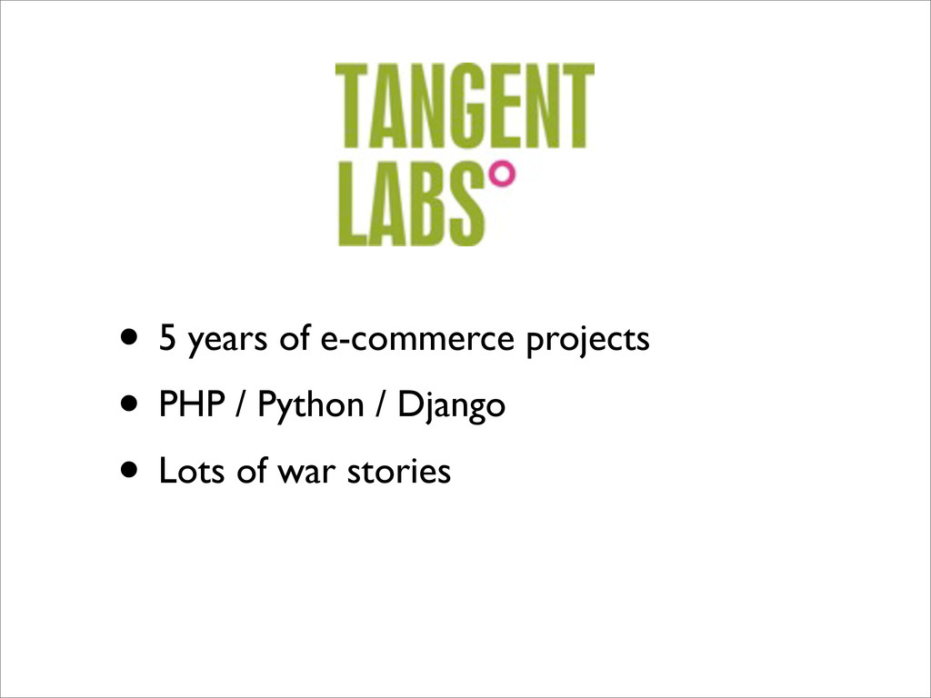 • 5 years of e-commerce projects • PHP / Python...