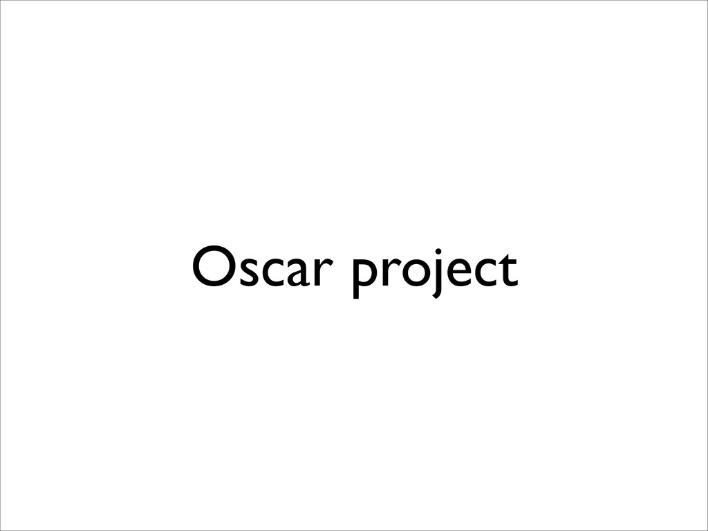 Oscar project