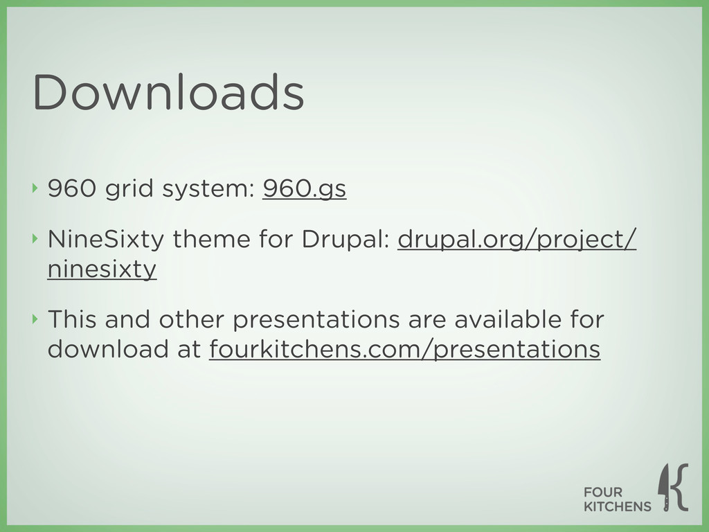 Downloads ‣ 960 grid system: 960.gs ‣ NineSixty...