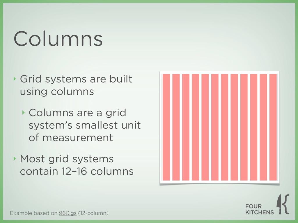 Example based on 960.gs (12-column) Columns ‣ G...