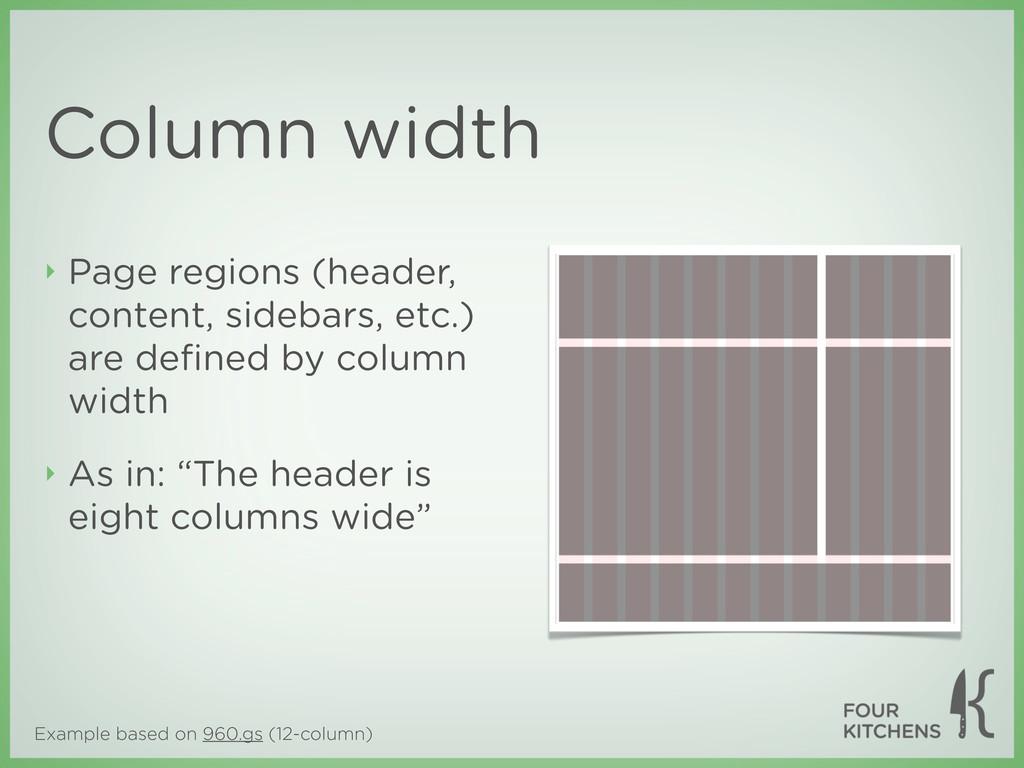 Example based on 960.gs (12-column) Column widt...