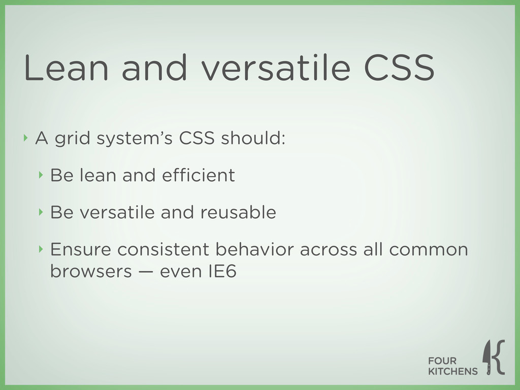 Lean and versatile CSS ‣ A grid system's CSS sh...