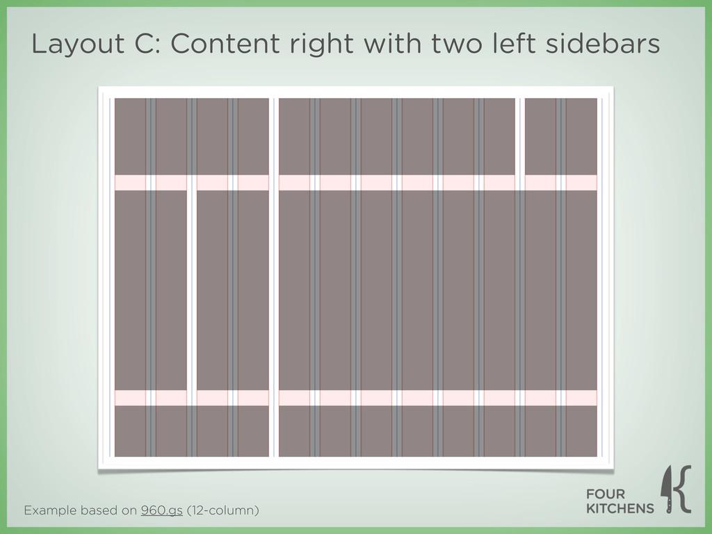 Example based on 960.gs (12-column) Layout C: C...