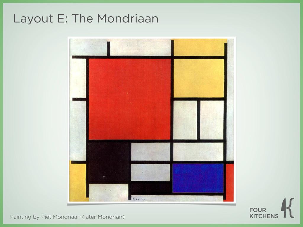 Painting by Piet Mondriaan (later Mondrian) Lay...