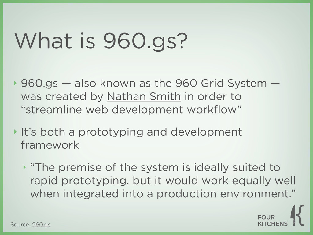 Source: 960.gs What is 960.gs? ‣ 960.gs — also ...
