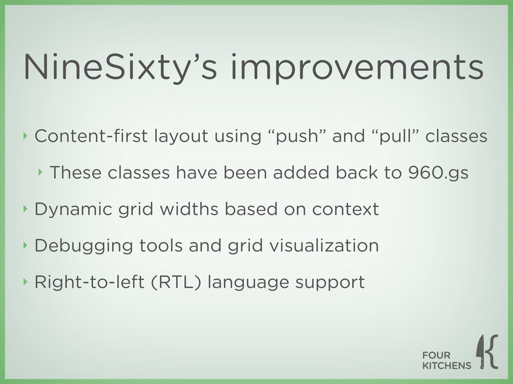 NineSixty's improvements ‣ Content-first layout ...