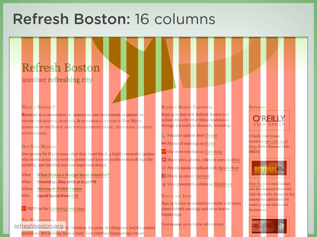 Refresh Boston: 16 columns refreshboston.org