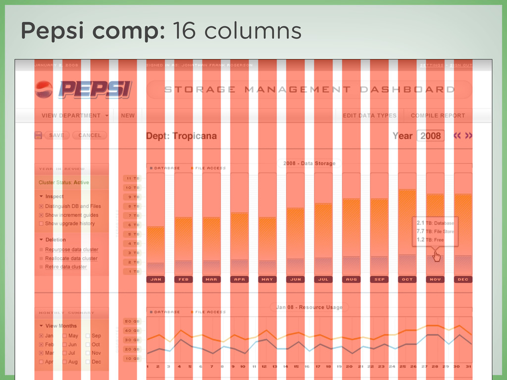 Pepsi comp: 16 columns