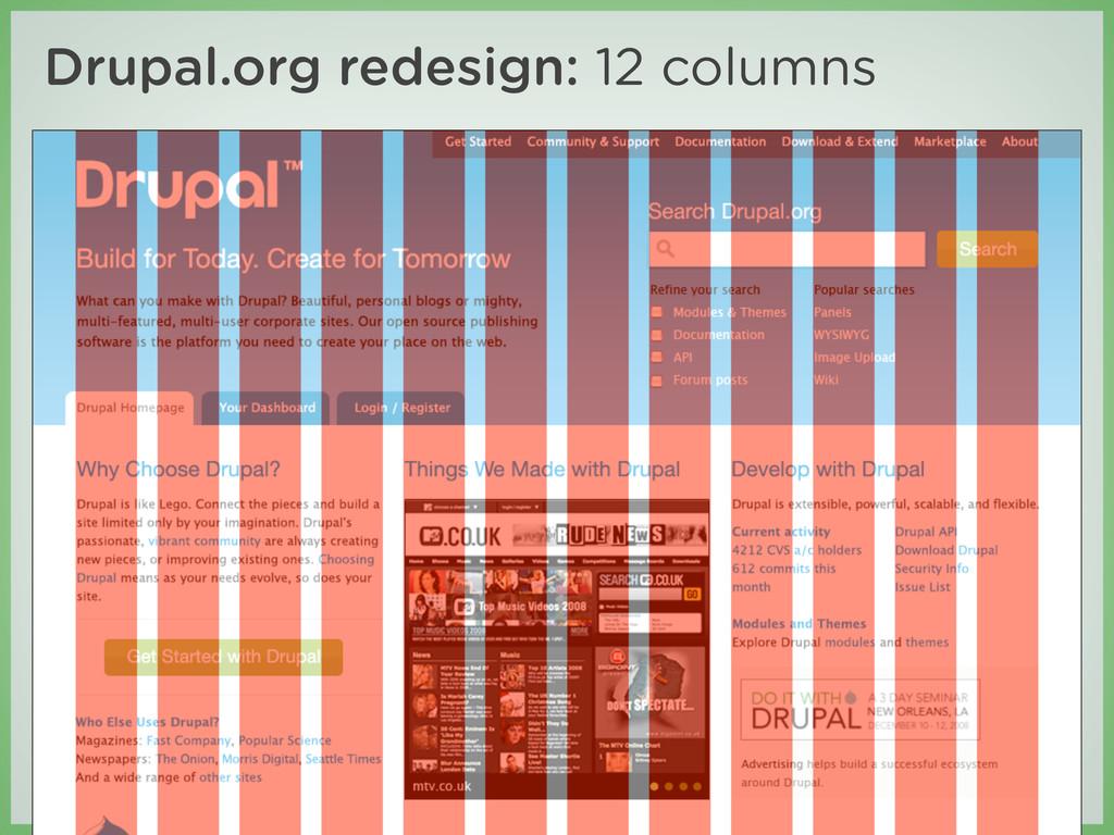 Drupal.org redesign: 12 columns infrastructure....