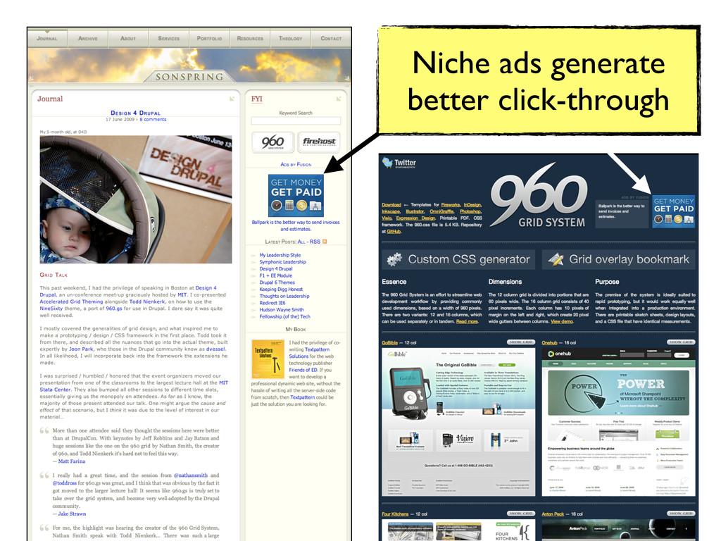 Niche ads generate better click-through