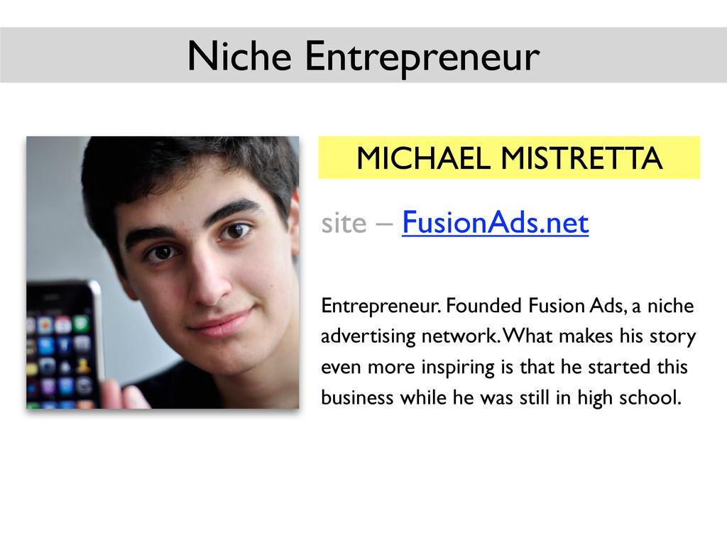 MICHAEL MISTRETTA site – FusionAds.net Entrepre...