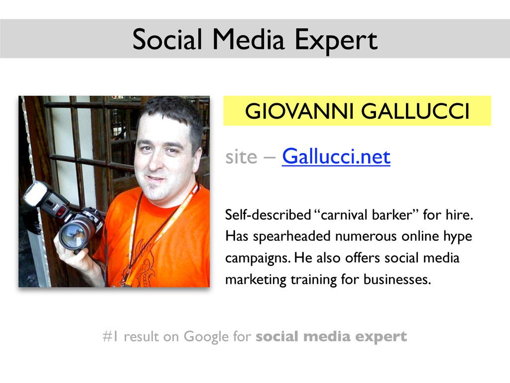 GIOVANNI GALLUCCI site – Gallucci.net Self-desc...