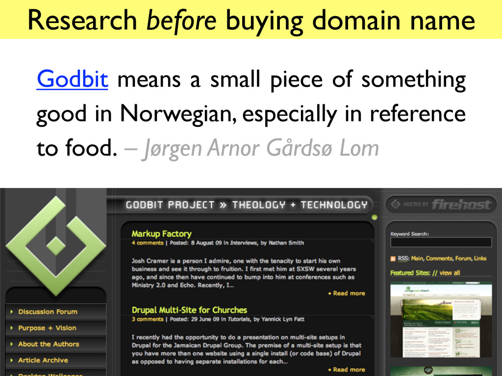 Research before buying domain name Godbit means...