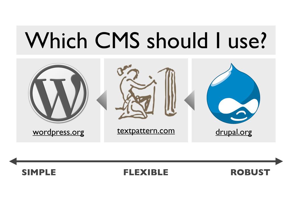 wordpress.org textpattern.com drupal.org SIMPLE...