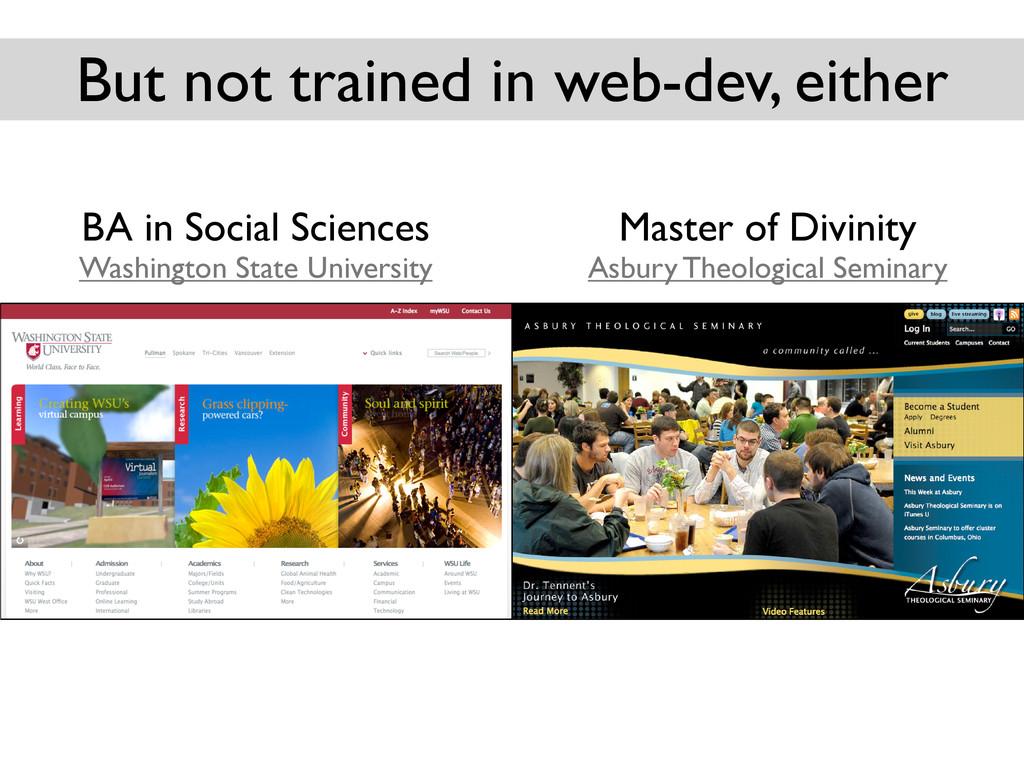 BA in Social Sciences Washington State Universi...