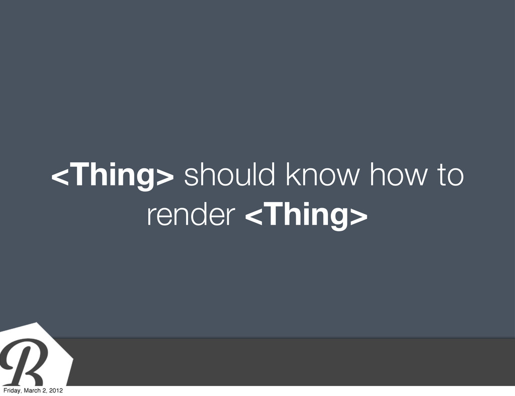 <Thing> should know how to render <Thing> Frida...