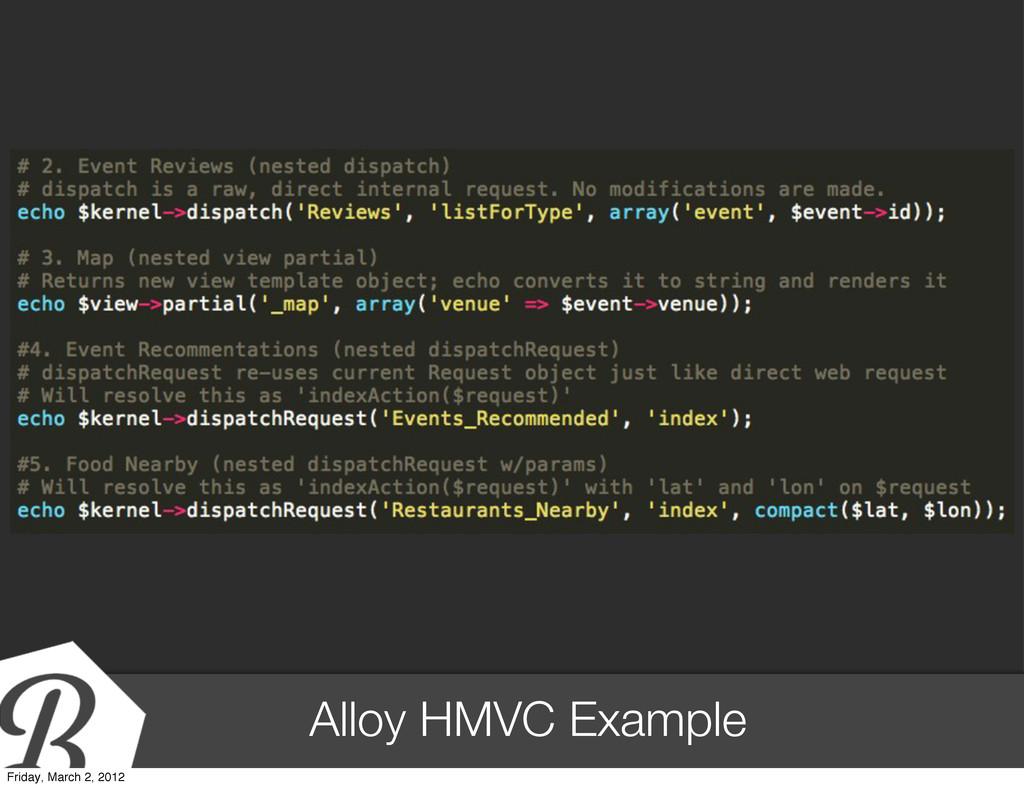 Alloy HMVC Example Friday, March 2, 2012
