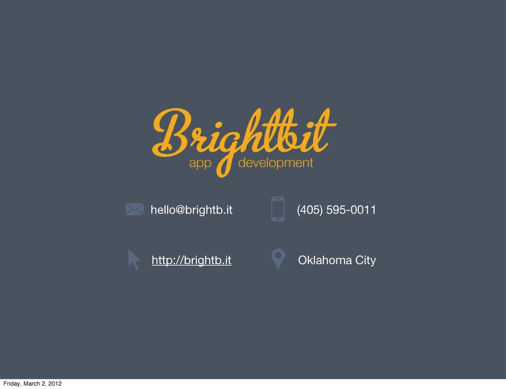 hello@brightb.it http://brightb.it (405) 595-00...