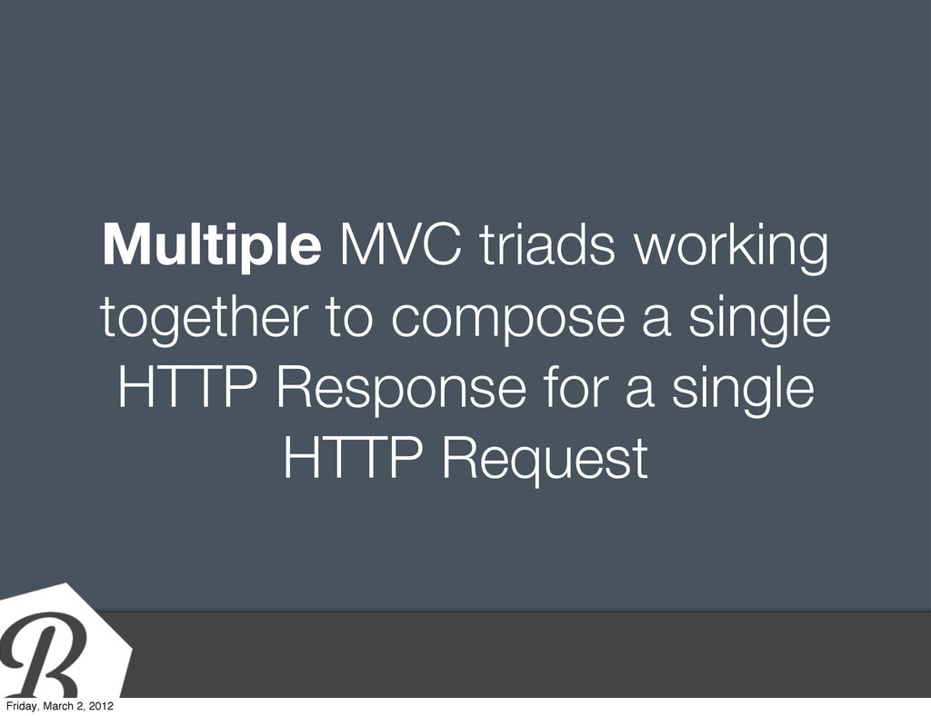 Multiple MVC triads working together to compose...