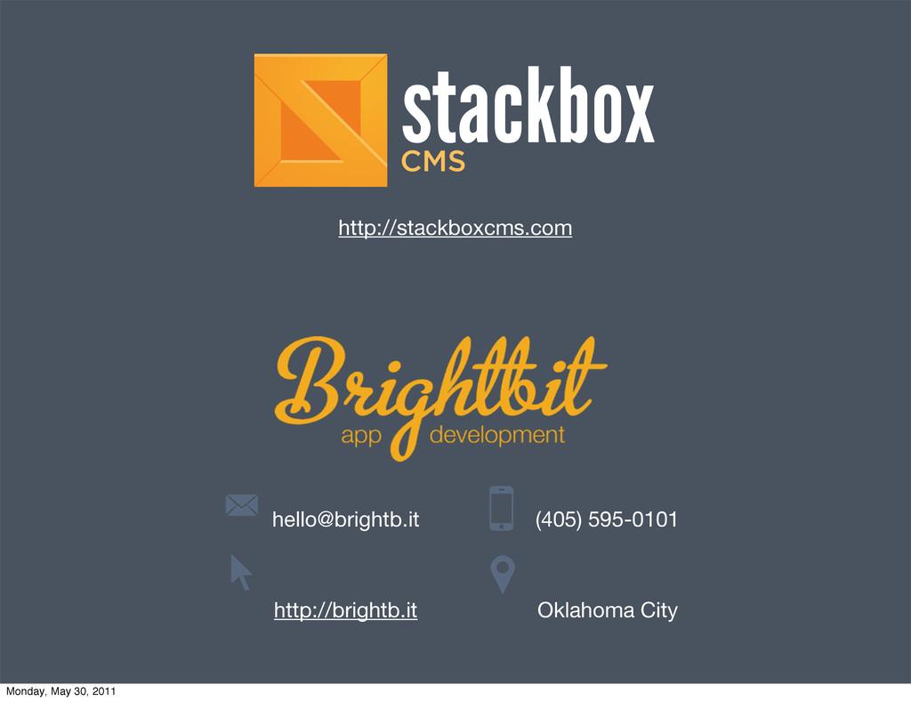 hello@brightb.it http://brightb.it (405) 595-01...