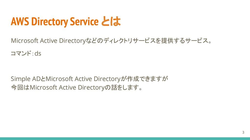AWS Directory Service とは Microsoft Active Direc...