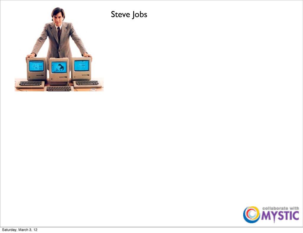 Steve Jobs Saturday, March 3, 12