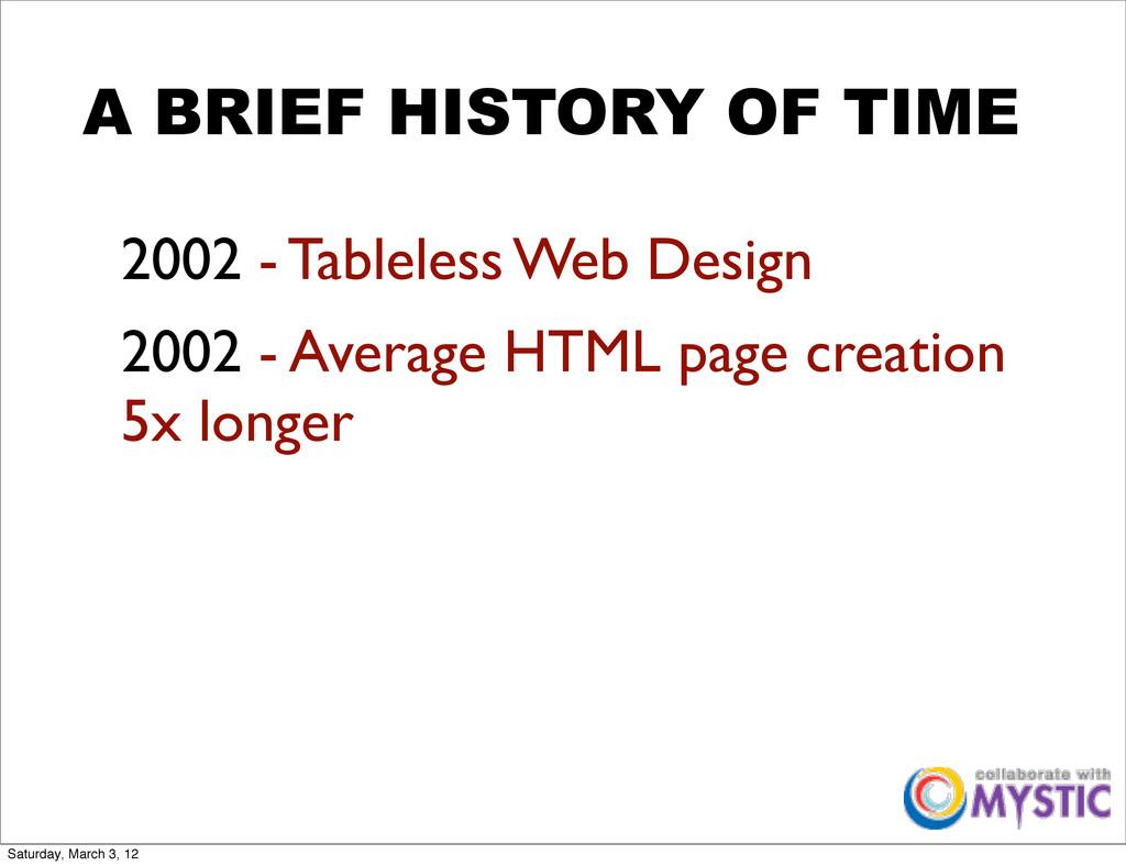 A BRIEF HISTORY OF TIME 2002 - Tableless Web De...