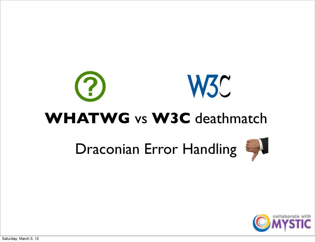 WHATWG vs W3C deathmatch Draconian Error Handli...